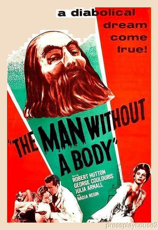 The Man Without A Body: DVD, 1957, Robert Hutton, Julia Arnall, 50s Sci-Fi Rarity product photo