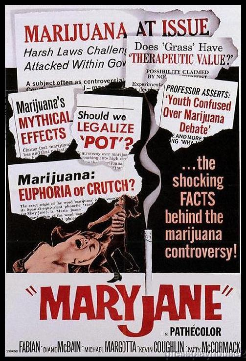 Maryjane: DVD, 1968, Fabian, Patty McCormack, Diane McBain, 60s Marijuana Cult Classic product photo