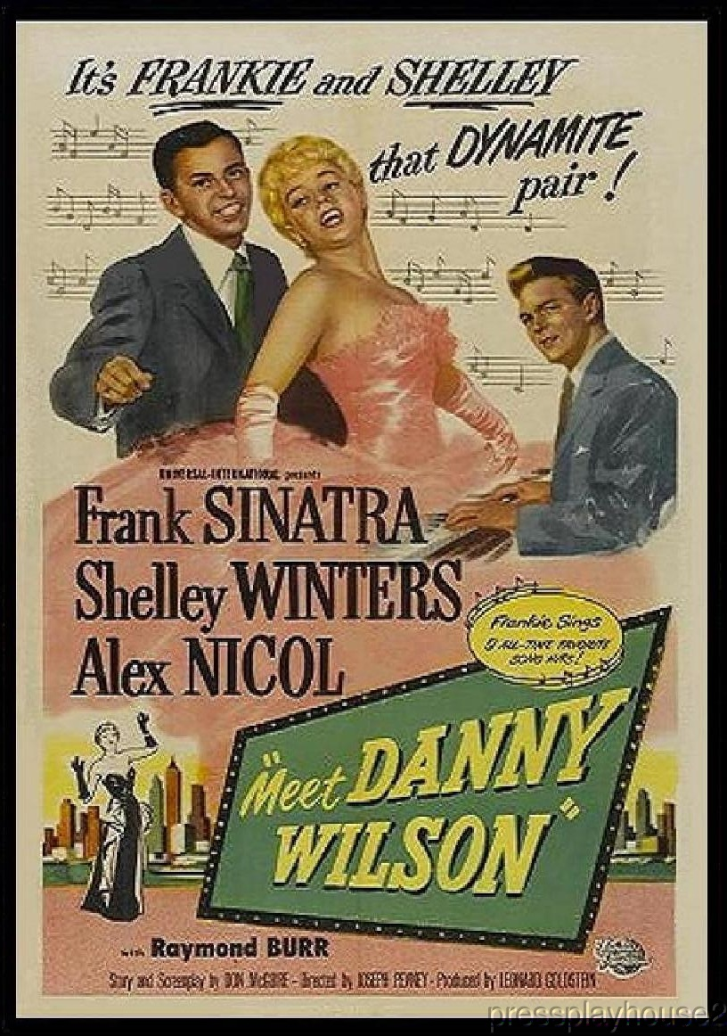 Meet Danny Wilson: DVD, 1951, Frank Sinatra, Shelley Winters, Raymond Burr, Alex Nicol, Rare Crime Set To Music product photo