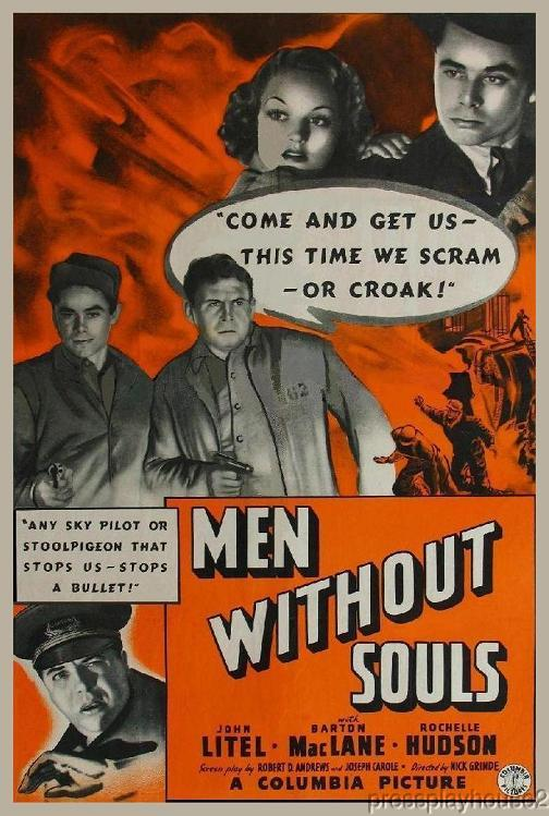 Men Without Souls: DVD, 1940, Glenn Ford, Rochelle Hudson, Rarely Seen Prison Gem product photo