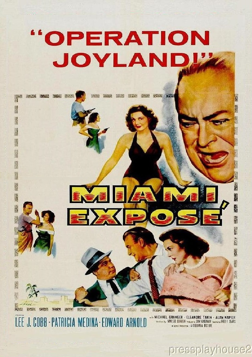 Miami Expose: DVD, 1956, Lee J. Cobb, Patricia Medina, Michael Granger, Tough 50s Crime product photo