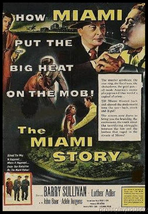 The Miami Story: DVD, 1954, Barry Sullivan, Beverly Garland, Luther Adler product photo
