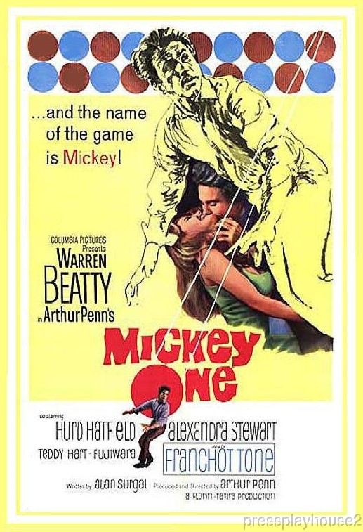 Mickey One: DVD, 1965, Warren Beatty, Alexandra Stewart, Franchot Tone, Widescreen product photo