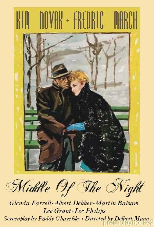 Middle of The Night: DVD, 1959, Fredric March, Kim Novak, Martin Balsam, Glenda Farrell, Widescreen product photo