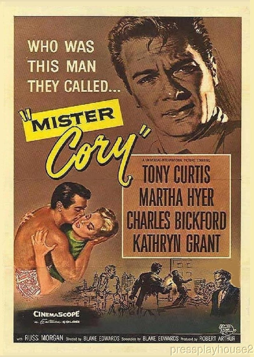 Mister Cory: DVD, 1957, Tony Curtis, Martha Hyer, Kathryn Grant, Widescreen product photo