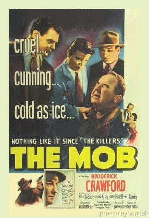The Mob: DVD, 1951, Broderick Crawford, Ernest Borgnine, Film Noir Blockbuster product photo