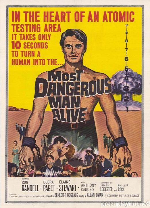 Most Dangerous Man Alive: DVD, 1961, Ron Randell, Debra Paget, Rarely Seen Crime Sci-Fi, Widescreen product photo