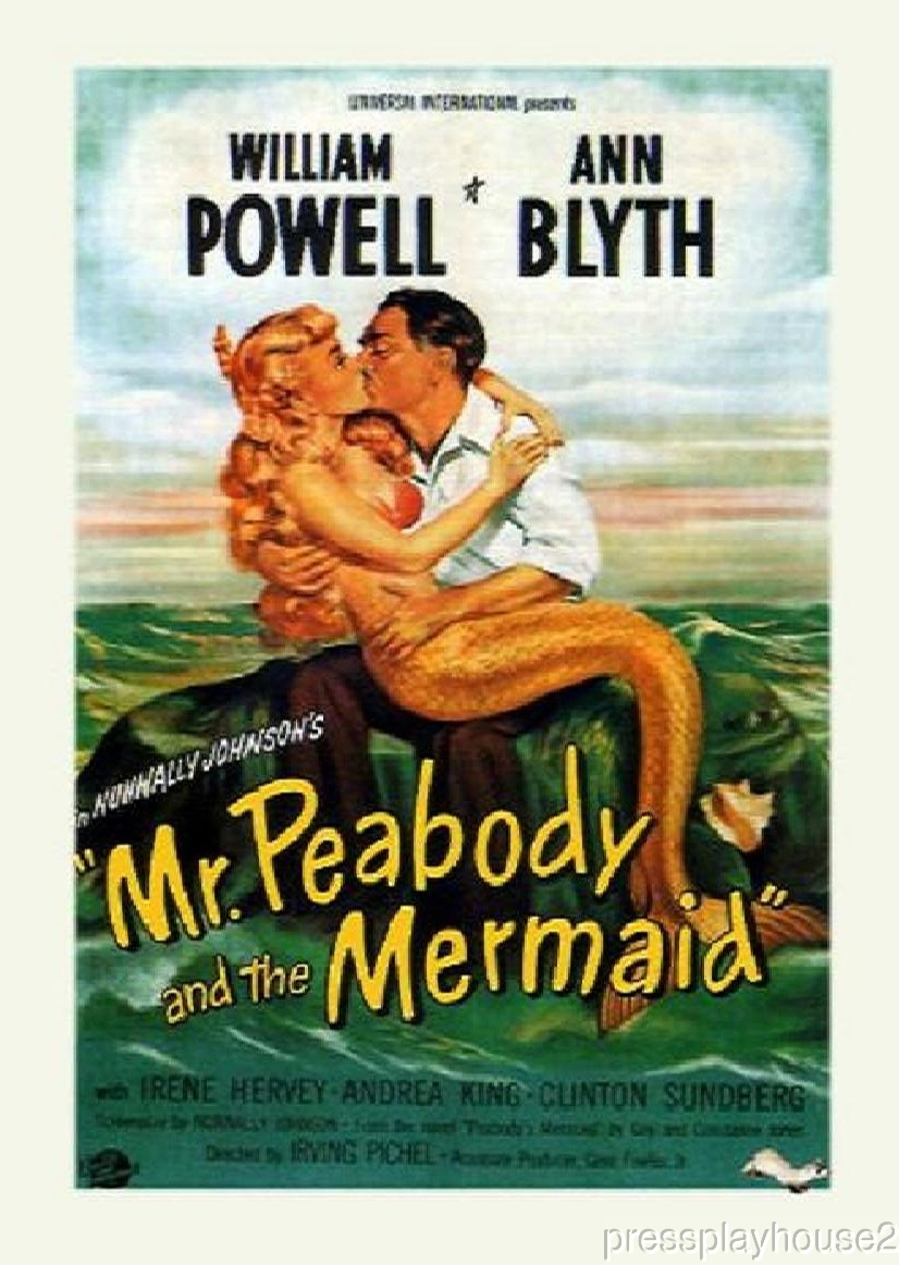 Mr. Peabody and The Mermaid: DVD, 1948, William Powell, Ann Blyth, Fred Clark, Wonderful Comedy Fantasy product photo