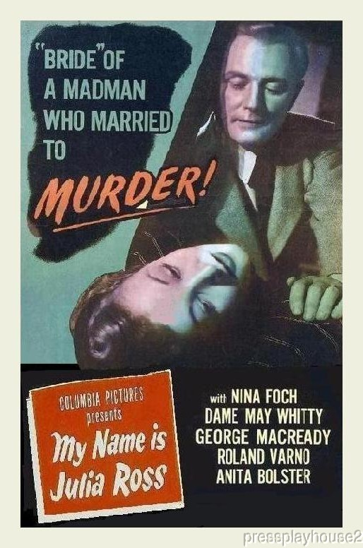 My Name Is Julia Ross: DVD, 1945, Nina Foch, George Macready, Crime Noir Classic product photo