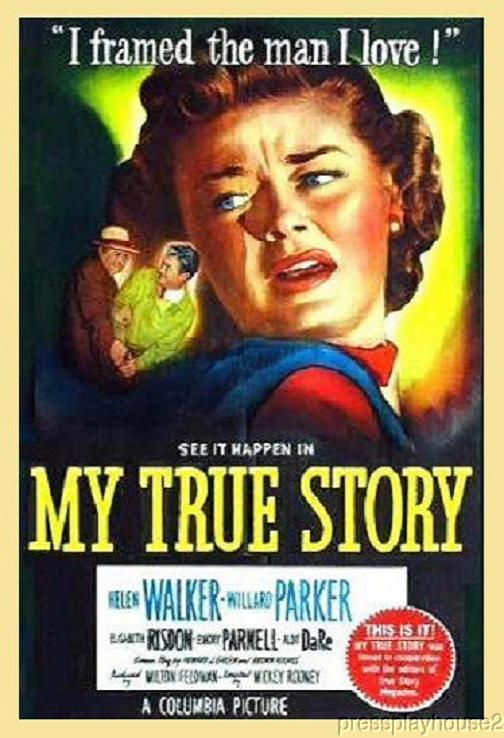 My True Story: DVD, 1951, Aldo Ray, Helen Walker, Rare Film Noir Gem, Directed By Mickey Rooney product photo