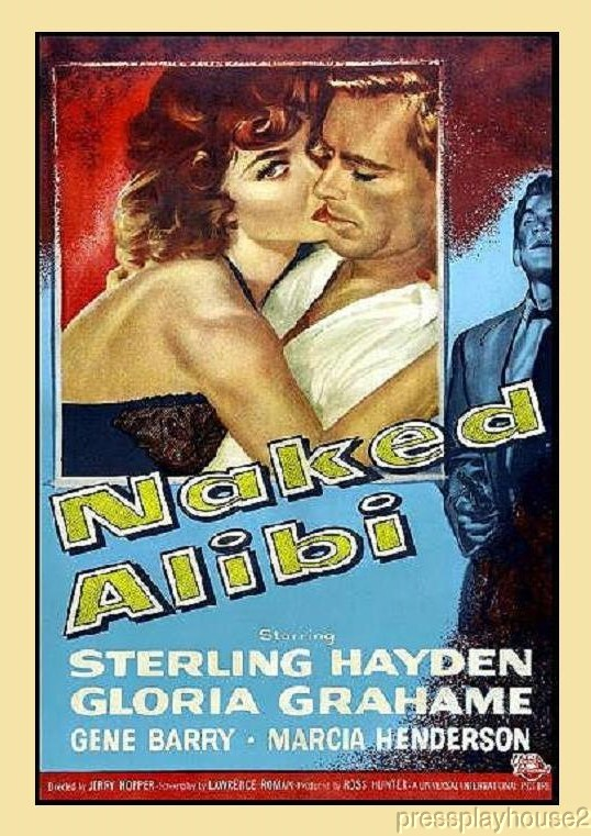 Naked Alibi: DVD, 1954, Sterling Hayden, Gloria Grahame, Gene Barry, Chuck Connors product photo