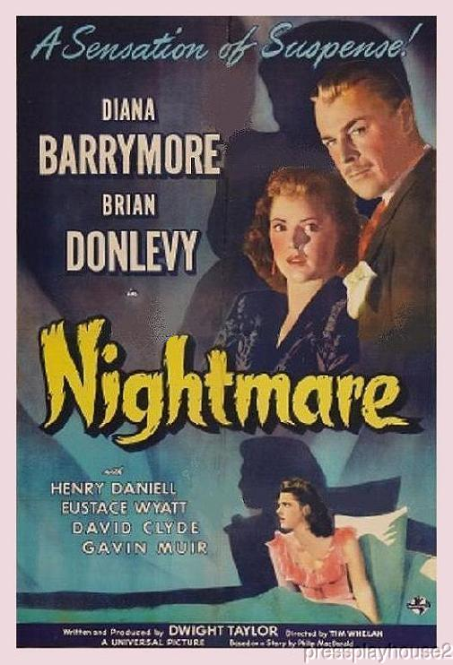 Nightmare: DVD, 1942, Brian Donlevy, Diana Barrymore, Rarely Seen Crime Mystery! product photo