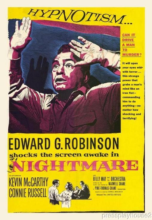 Nightmare: DVD, 1956, Edward G. Robinson, Kevin McCarthy, Connie Russell, Entertaining Film Noir Gem! product photo