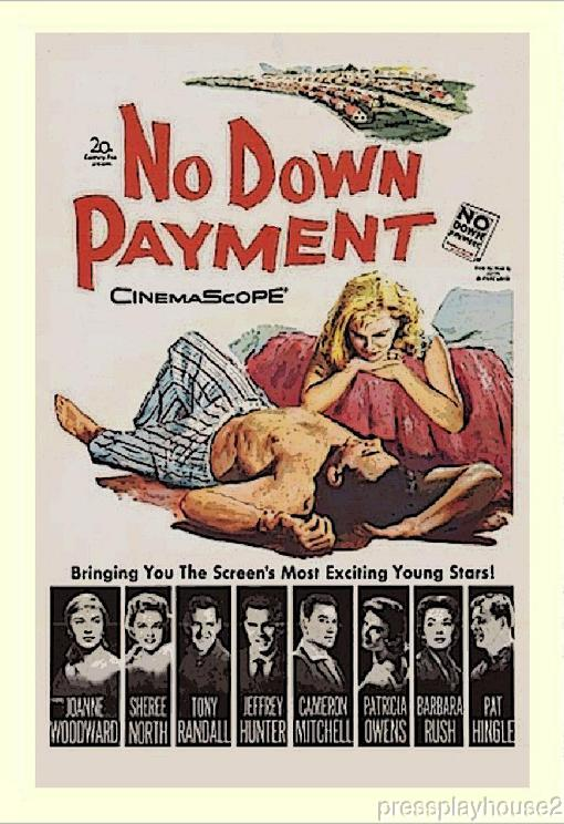 No Down Payment: DVD, 1957, Joanne Woodward, Tony Randall, Barbara Rush, Cameron Mitchell, Widescreen product photo