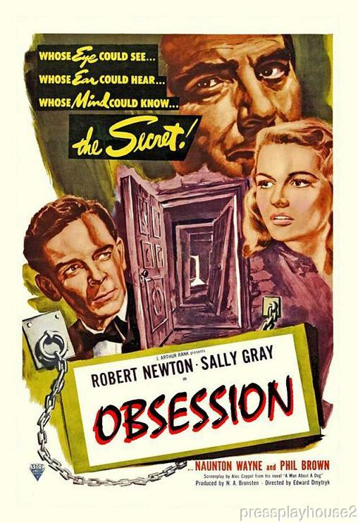 Obsession: DVD, 1949, Robert Newton, UK Film Noir Classic product photo