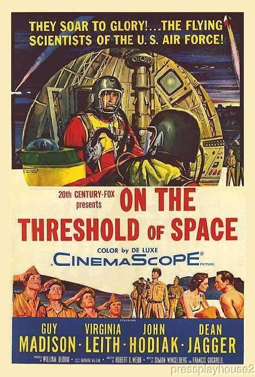 On The Threshold of Space: DVD, 1956, Guy Madison, Martin Milner, John Hodiak, Unusual Space-Age Film! product photo