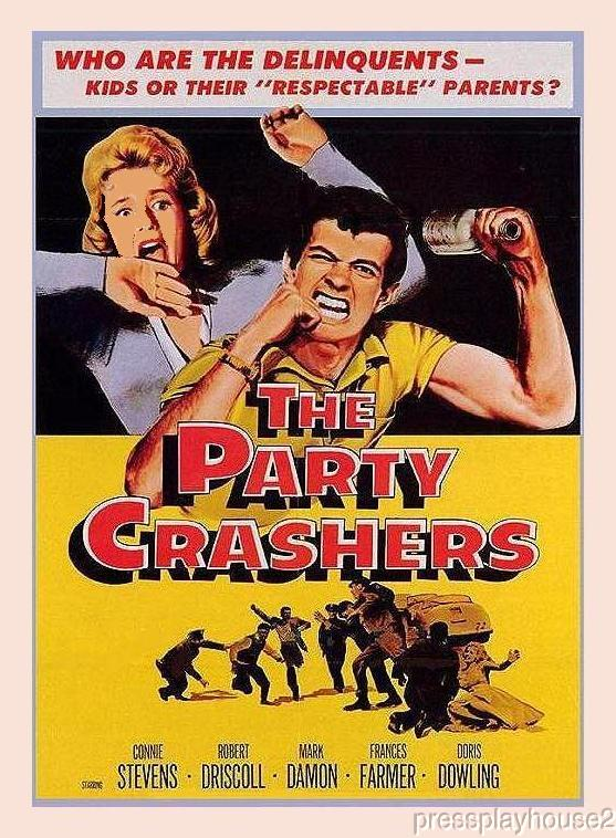 The Party Crashers: DVD, 1958, Connie Stevens, Mark Damon, Great 50s JD Film product photo