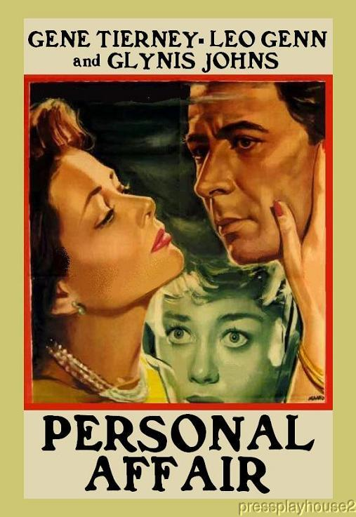 Personal Affair: DVD, 1953, Gene Tierney, Glynis Johns, UK Crime product photo