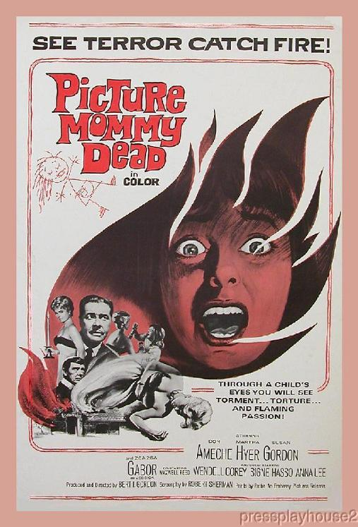 Picture Mommy Dead: DVD, 1966, Martha Hyer, Zsa Zsa Gabor, Don Ameche, Cult Horror Classic! product photo