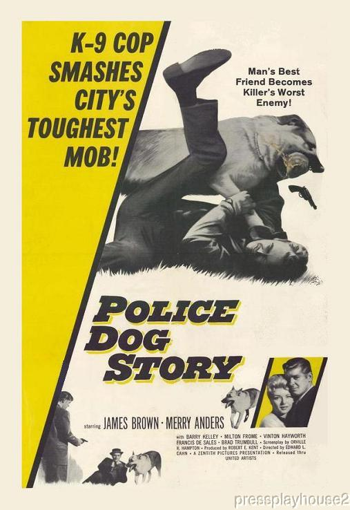 The Police Dog Story: DVD, 1961, Merry Anders, Milton Frome, Rarely Seen 60s Crime product photo