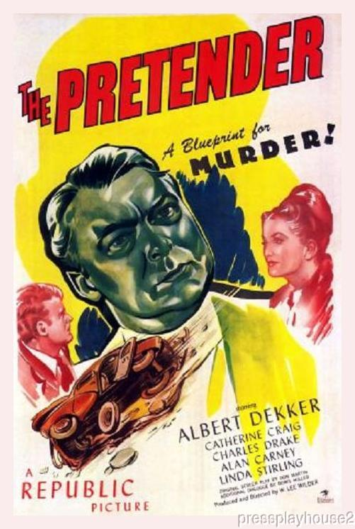 The Pretender: DVD, 1947, Albert Dekker, Catherine Craig, Rare Crime Thriller! product photo