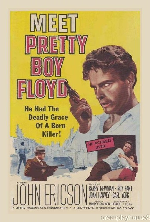 Pretty Boy Floyd: DVD, 1960, John Ericson, Peter Falk, Al Lewis, Rare Crime Biography product photo