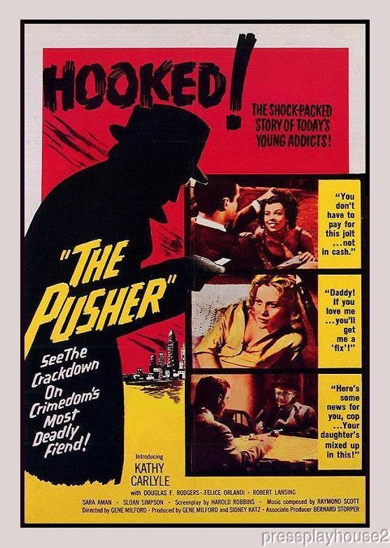 The Pusher: DVD, 1960, Robert Lansing, Rare Drug Addiction Crime Melodrama product photo