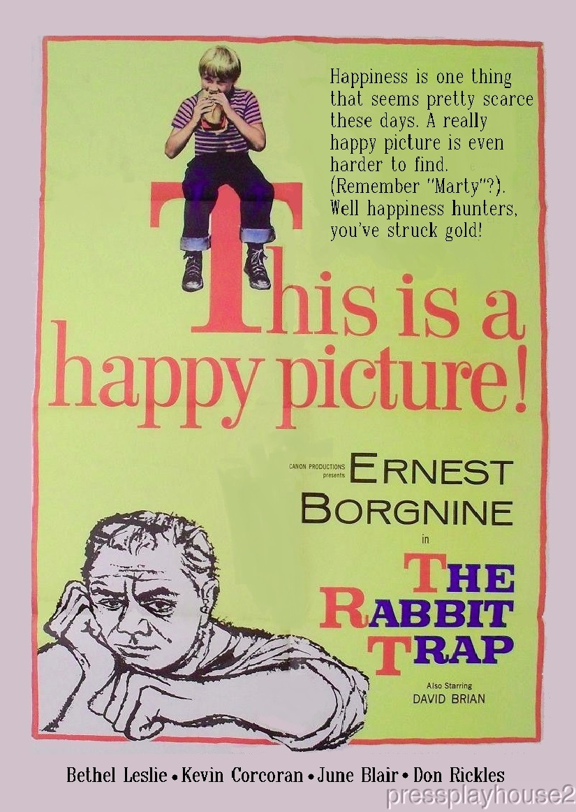The Rabbit Trap: DVD, 1959, Ernest Borgnine, David Brian, Bethel Leslie, Rare Melodrama product photo