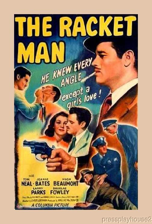 The Racket Man: DVD, 1944, Hugh Beaumont, Tom Neal, Douglas Fowley, Rarely Seen 40s Crime product photo