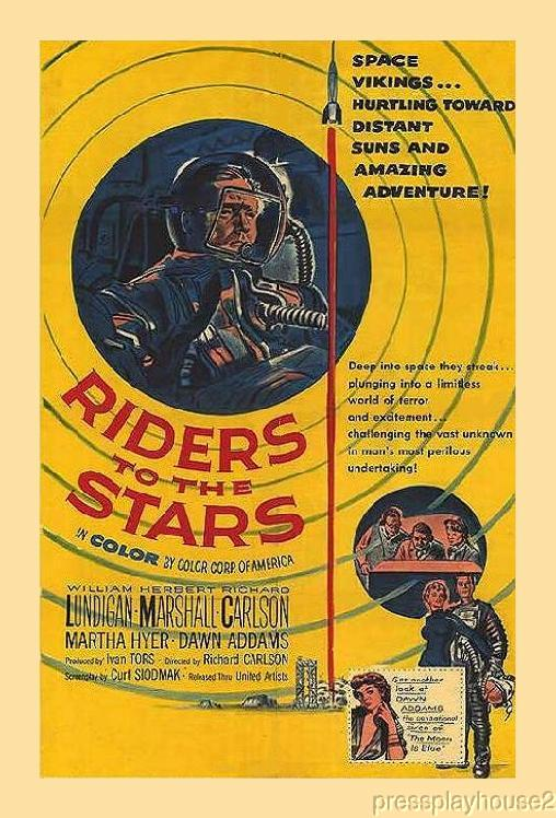 Riders To The Stars: DVD, 1954, Richard Carlson, Martha Hyer, Rarely Seen 50s Sci-Fi in Color product photo