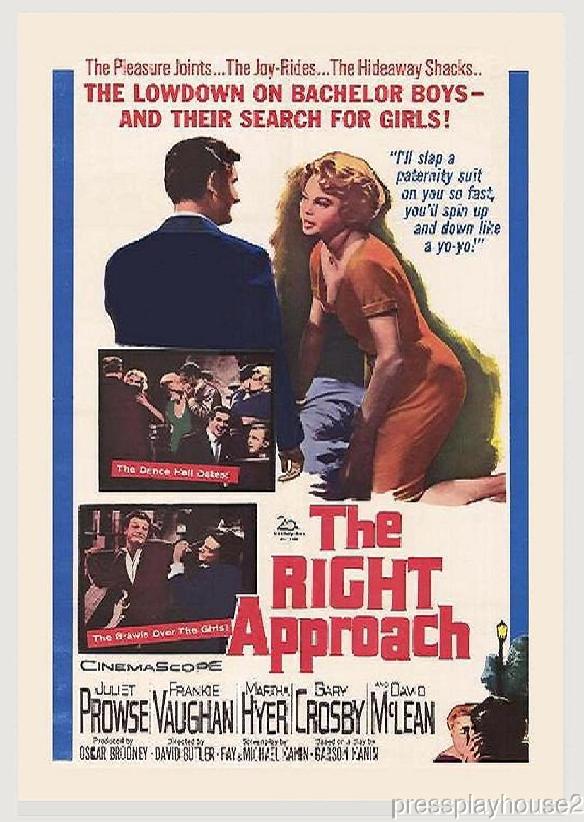 The Right Approach: DVD, 1961, Frankie Vaughan, Juliet Prowse, Martha Hyer, Jesse White product photo