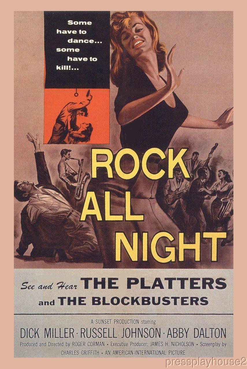 Rock All Night: DVD, 1957, Dick Miller, Abby Dalton, Russell Johnson, Gangsters, Beatnicks & Rock & Roll!! product photo
