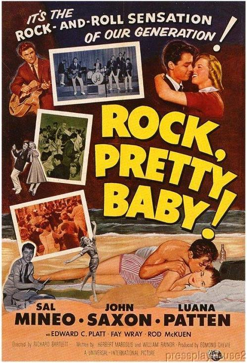 Rock Pretty Baby: DVD, 1957, Sal Mineo, Shelley Fabares, Rod Mckuen, John Saxon, Hard-To-Find Early Rock Film product photo
