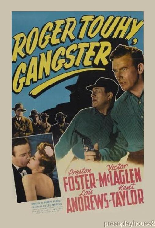Roger Touhy, Gangster: DVD, 1944, Preston Foster, Anthony Quinn, Rare Crime Biography product photo