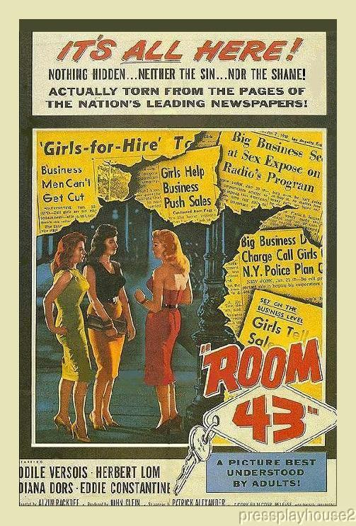 Room 43: DVD, 1958, Diana Dors, Eddie Constantine, Herbert Lom, Joan Collins, UK Noir Gem! product photo
