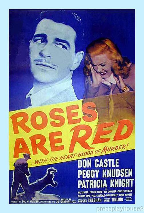 Roses Are Red: DVD, 1947, Don Castle, Jeff Chandler, Charles Mcgraw, Rare Film Noir Gem product photo