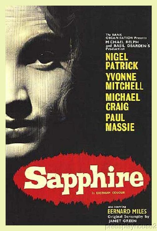 Sapphire: DVD, 1959, Michael Craig, Yvonne Mitchell, Extraordinary UK Murder Mystery! product photo