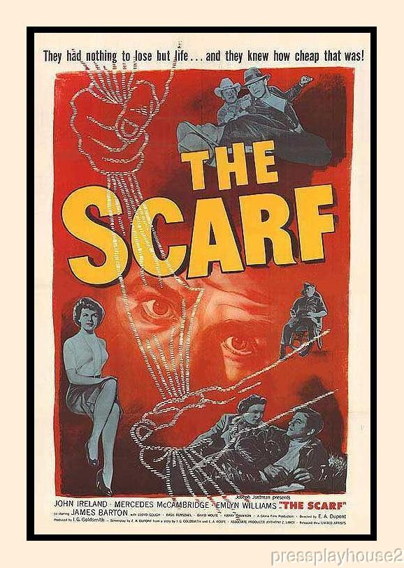 The Scarf: DVD, 1951, Mercedes McCambridge, John Ireland, Film Noir Thriller Classic product photo