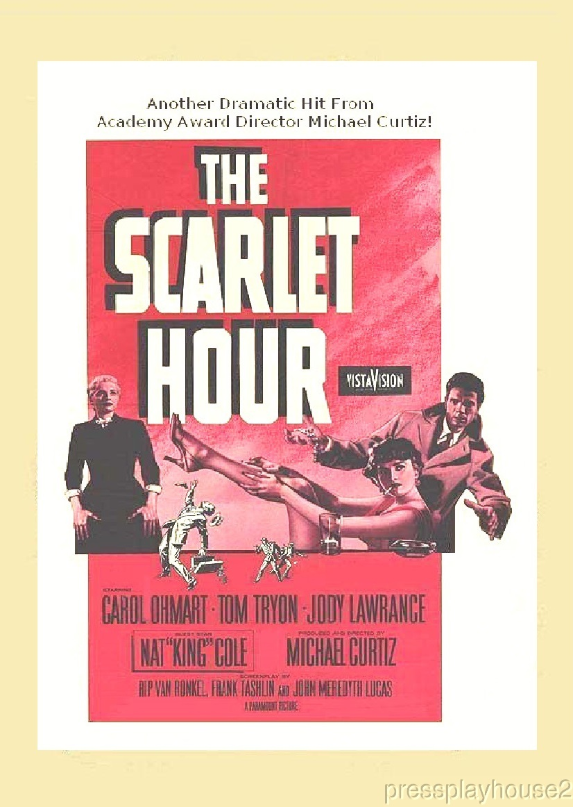 The Scarlet Hour: DVD, 1956, Tom Tryon, Carol Ohmart, Scott Marlowe, Rarely Seen Film Noir Gem product photo