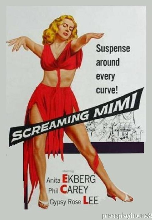 Screaming Mimi: DVD, 1958, Anita Ekberg, Philip Carey, Harry Townes, Psycho Film Noir, Widescreen product photo