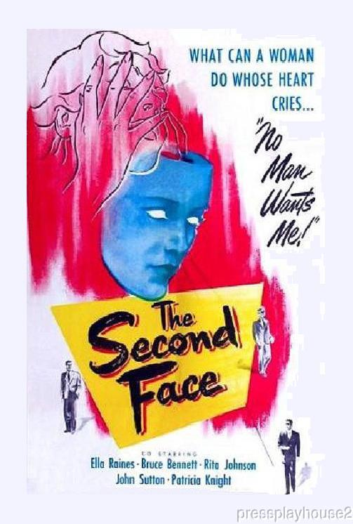 The Second Face: DVD, 1950, Ella Raines, Roy Roberts, Charles Lane, Rarely Seen Melodrama product photo