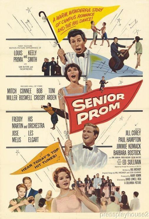 Senior Prom: DVD, 1958, Jill Corey, Paul Hampton, Louis Prima & Keely Smith, Rarely Seen Teen Musical product photo