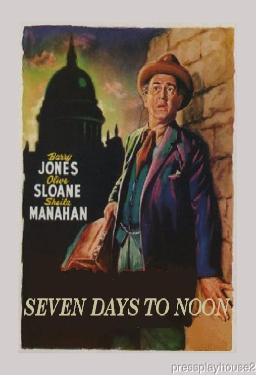 Seven Days To Noon: DVD, Barry Jones, 1950, UK Atomic Bomb Thriller product photo