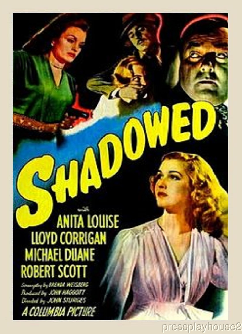 Shadowed: DVD, 1946, Anita Louise, Lloyd Corrigan, Terry Moore, Obscure Film Noir product photo