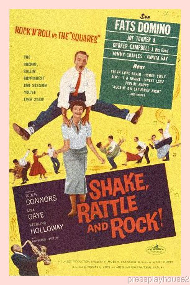 Shake, Rattle & Rock!: DVD, 1956, Fats Domino, Joe Turner, Mike Connors, Percy Helton, Early Rock and Roll Film Classic product photo