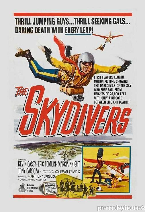 The Skydivers: DVD, 1963, Jimmy Bryant (Guitar Wizard), Cult Melodrama product photo