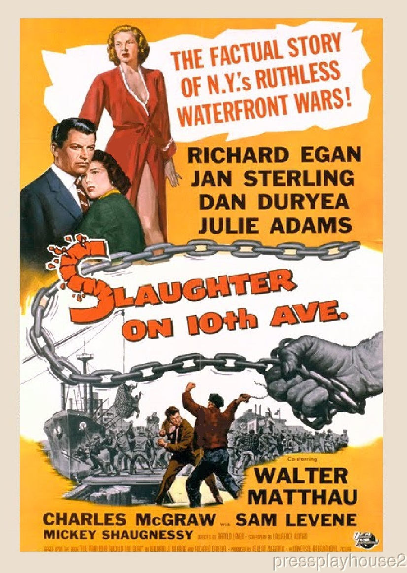 Slaughter On Tenth Avenue: DVD, 1957, Richard Egan, Jan Sterling, Dan Duryea, Walter Matthau, Rarely Seen NYC Crime Blockbuster product photo