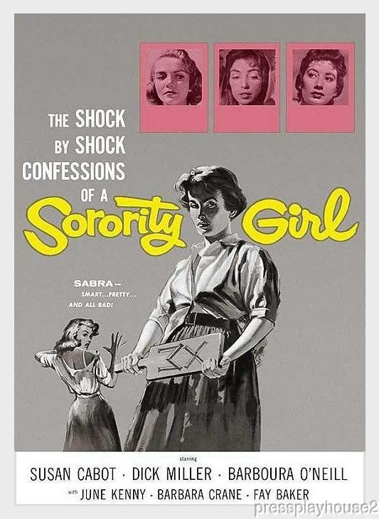 Sorority Girl: DVD, 1957, Susan Cabot, Dick Miller, June Kenney, 50s Teen Rarity! product photo
