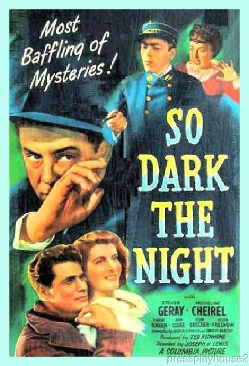So Dark The Night: DVD, 1946, Steven Geray, 40s Crime Classic! product photo