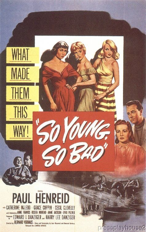 So Young So Bad: DVD, 1950, Anne Francis, Rita Moreno, Paul Henried, Teen Exploitation Gem!! product photo